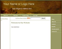 Gold Leaf - Static Design Template Click here to view this design - No html skills required