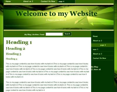 Green Abstract - Static/Flash Design Template Click here to view this design - No html skills required