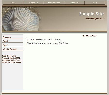 Sea Shell - Flash Design Template Click here to view this design - No html skills required