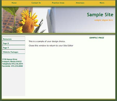 City Sunflower - Flash Design Template Click here to view this design - No html skills required