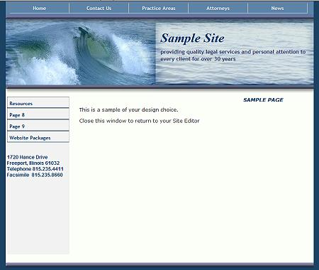 Surfs Up - Flash Design Template Click here to view this design - No html skills required